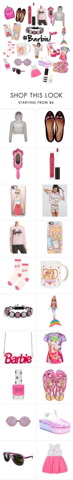 """""""#Barbie!!"""" by shelbsinstyle ❤ liked on Polyvore featuring Charlotte Olympia, Moschino, Anastasia Beverly Hills, Casetify, ASOS, ElevenParis, Topshop, Bling Jewelry, IPANEMA and Wildfox"""