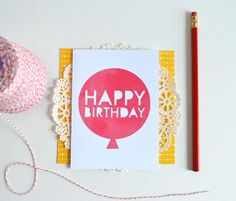 *New!* Watercolor Happy Birthday Balloon Card