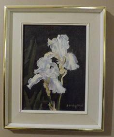 "Pat McNaughton Oil on Board - ""Iris"". Listed Canadian Artist"