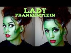 You can become Lady Frankenstein with some quick makeup for Halloween.