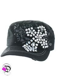 Black Bling Cross Cadet Hat $14.99 Divalicious