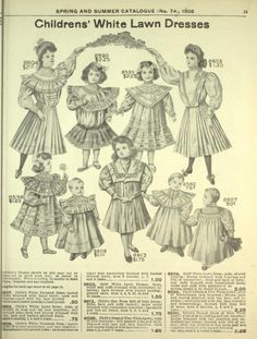 eatons childresn white lawn dresses Costume ideas for Oklahoma! Vintage Costumes, Vintage Outfits, 18th Century Fashion, Doll Wardrobe, Doll Costume, Heirloom Sewing, Cool Halloween Costumes, Historical Clothing, Fashion Plates