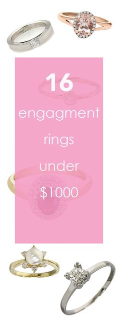 Here is how to get engagement rings for under a grand. Yes, really under $1000. With the money you save from the engagement ring you can have extra money for your wedding.
