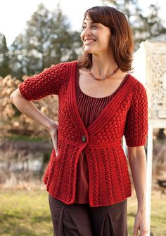 Berroco® Free Pattern | Azilal women's Jacket or Sweater crochet pattern