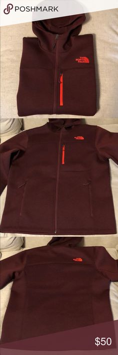 2d0fe603d8 Men s THE NORTH FACE hoodie jacket zipper maroon Brownish maroon color  heathered with black This is
