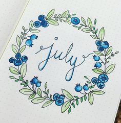 July Bullet Journal Ideas - Monthly Layout Spread - Cover Page - Setup Snag some fun July Bullet Journal Ideas, simply gorgeous designs perfect for summer. Start organizing all of your summer activities, vacations Planner Bullet Journal, February Bullet Journal, Bullet Journal Cover Page, Bullet Journal Writing, Bullet Journal Ideas Pages, Bullet Journal Layout, Journal Covers, Bullet Journal Inspiration, Journal Pages