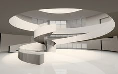 bernard tschumi architects: alésia museum and archaeological park Grand Staircase, Staircase Design, Stairs, Museum Architecture, Facade Architecture, Conceptual Architecture, Design Museum, Lobby Interior, Interior Design
