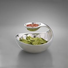 Chip Bowl with Salsa Bowl Above it, Perfect Chips and Dips