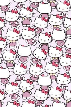 Hello Kitty pattern and like OMG! get some yourself some pawtastic adorable cat apparel! Hello Kitty Backgrounds, Hello Kitty Wallpaper, Kawaii Wallpaper, Love Wallpaper, Pattern Wallpaper, Iphone Wallpaper, Wallpaper Stickers, Sanrio Hello Kitty, Hello Kitty Tumblr