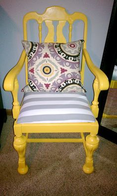 Wow! Go find a wooden chair from your local Goodwill to recreate this wild chair.