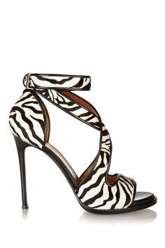 e1238ae5a00 Givenchy - Nilenia sandals in zebra-print calf hair with leather trim