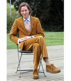 Wes Anderson Corduroy Suit - Wes Anderson Clarks Wallabees