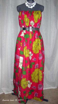 Sharon Sews: DIY - An easy to sew strapless maxi dress tutorial
