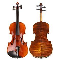 High-end Professional Spirit Varnish Violin Naturally Dried Stripes Maple Handcraft Antique Violino TONGLING Brand