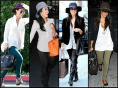 Kourtney Kardashian gives hatspiration with these super chic ways to wear the accessory. Kourtney Kardashian, Kardashian Style, Timeless Classic, Classic Style, Style Me, Street Chic, Street Style, Celebs, Celebrities