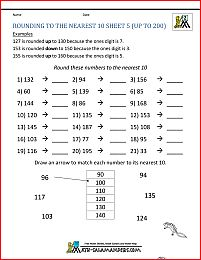 rounding worksheets rounding nearest 10 6 Rounding Decimals Worksheet, Dividing Decimals, Fractions, 5th Grade Worksheets, Printable Worksheets, Rounding Whole Numbers, Math Sheets, Go Math, Free Math