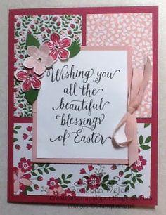 Suite Sayings, Petite Petals, Easter Card - Barbara Welch - Creative Stampin' Spot: Stampin' Friends Spring Blog Hop