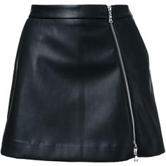 Guild Prime faux-leather mini skirt (545 BRL) ❤ liked on Polyvore featuring skirts, mini skirts, bottoms, saias, faldas, black, faux-leather skirts, leather look skirt, vegan leather skirt and fake leather skirt