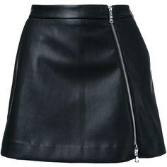 Guild Prime faux-leather mini skirt (3,100 MXN) ❤ liked on Polyvore featuring skirts, mini skirts, bottoms, saias, faldas, black, short mini skirts, vegan leather mini skirt, faux leather skirt and short skirts