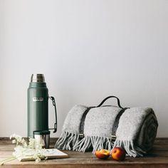 Waterproof Wool Picnic Blanket Grey - The Future Kept - 4