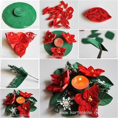 DIY Quilling Flower Candle Holder I know many people are getting addicted to quilling nowadays. 3d Quilling, Quilling Videos, Paper Quilling Tutorial, Quilling Patterns, Quilling Designs, Quilling Instructions, Quilling Animals, Diy Paper Christmas Tree, Quilling Christmas