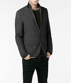 Mens Teslin Jacket (Charcoal) | ALLSAINTS.com