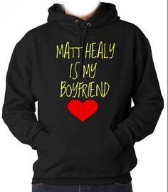 plz. ❤️ Matt Healy is my Boyfriend Hooded Sweatshirt
