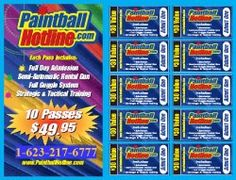 Test drive a day of paintball only $5 Includes all equipment and admission!