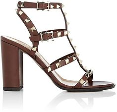 Valentino Garavani Women's Rockstud Leather T-Strap Sandals