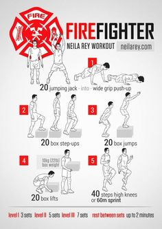 Firefighter Strength Workout by malinda - Fitness is life, fitness is BAE! <3 Tap the pin now to discover 3D Print Fitness Leggings from super hero leggings, gym leggings, fitness, leggings, and more that will make you scream YASS!!!