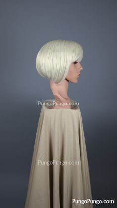 White Blonde Bob Wig | Short Wig | Party Pinup Girl Club Rave Cyber Steampunk Costume Anime Cosplay Wig Lolita Fashion Silver Hair by PungoPungo on Etsy