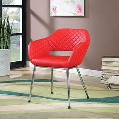 Tasha Red Accent Chair - CM-AC6043RD