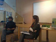 """Lorenzo Olmi presenta """"Questi occhi mettono radice"""" alla biblioteca di Vergato, 6 aprile 2013"""