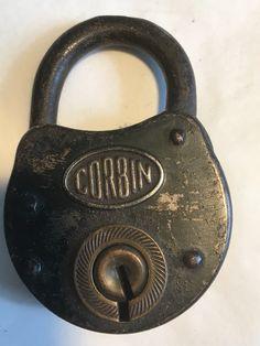 Vintage Lock Cast Iron Decor Cottage Chic Rust And Patina Padlock With Key Skeleton Key Lock Working Padlock Masculine Decor