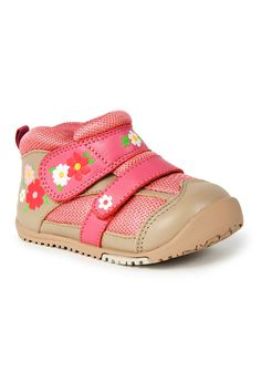 Sneakers With Flexible Sole In Flower Pink