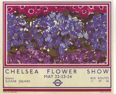 Art Print London Bus Chelsea Flower Show Poster by BloominLuvly Posters Uk, Railway Posters, Poster Prints, Art Prints, Chelsea Flower Show, London Transport, London Travel, Nostalgia, Vintage London