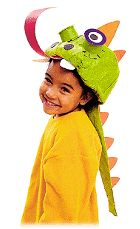 Child's dragon hat from Family Fun Magazine.
