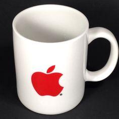 Vtg-Apple-Computers-Red-Logo-Coffee-Mug-Cup-Macintosh-Advertising-ComputerLand $35.99 1/16
