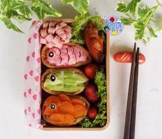 Children's Day koinobori sushi bento