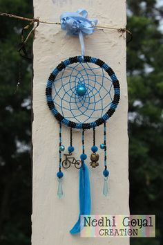 Beads Blue and Black with KITTY LOVE CYCLE