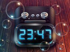 Icon for alarm by Sergey Valiukh, via Behance