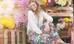 Desejo de primavera: vestido longo floral