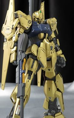 Custom Build: MG Hyaku Shiki Ver. Gundam Toys, Gundam Art, Astray Red Frame, Nerf Mod, Zeta Gundam, Gundam Mobile Suit, Gundam Custom Build, Earth Tone Colors, Custom Paint Jobs