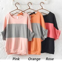 Find More T-Shirts Information about 2015 Korean Style Summer Spell color Contrast Color Shirt T shirt Batwing sleeve Top Tees Women T Shirt PE3404*10,High Quality T-Shirts from 9$ Women Shopping on Aliexpress.com
