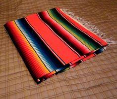Vintage Blanket, Mexican, Sarape, Saltillo