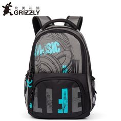121.00$  Buy now - http://alidxu.shopchina.info/go.php?t=32812683163 - GRIZZLY Men Backpack Casual Mochila for Teenager Boys School Bags Multifunction Waterproof Large Capacity Travel Bags  #aliexpressideas