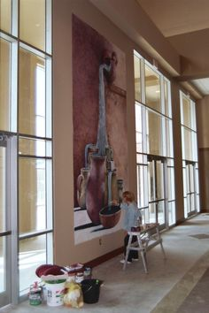 Painting a fresco...  Denise Armstrong - Artist