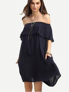 vestido hombro descubierto: 18,96€ - Samzah