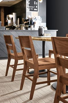 Add Afton dining chairs to one of our wood dining tables for classic dining room furniture. Classic Dining Room Furniture, Modern Dining Table, Round Dining Table, New Furniture, Ottoman In Living Room, Table Seating, Square Tables, Modern Room, Home Decor Items
