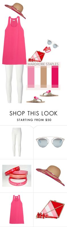 """""""Wardrobe Staples: Leggings'"""" by dianefantasy ❤ liked on Polyvore featuring Rick Owens Lilies, Christian Dior, Chanel, River Island, Splendid, Kate Spade, Figue, Leggings, polyvorecommunity and polyvoreeditorial"""